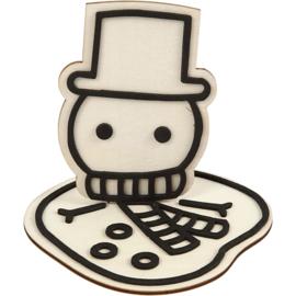 figuur om te decoreren, Gesmolten Sneeuwpop 11,5 cm
