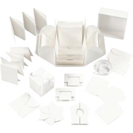 Explosion Box off white 12 x 12 cm