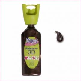 DI40964- 3D verf parelmoer chocolade (chocolat)