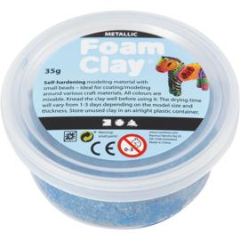 Foam Clay, blauw, metallic, 35gr