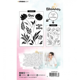 Clear stamp A6 - Karin Joan Blooming collection nr.03