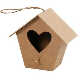 vogelhuis hart (11 cm)