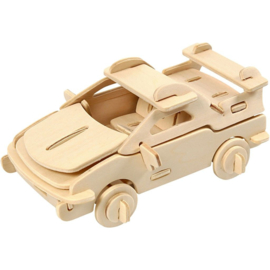 3D Puzzel, auto, afm 13x9x6 cm