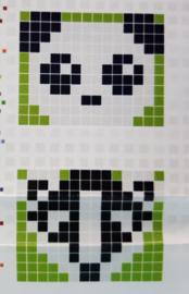 Medaillon sleutelhanger Panda (of Das)