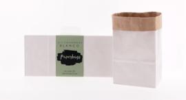 Set met 6 DIY paperbag XS blanco 23x10.5x6.5 cm