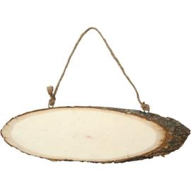 houten schild, b: 23-28 cm, h: 6-10 cm