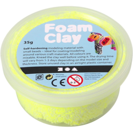Foam Clay, neon geel, 35gr