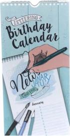 Birthday Calendar Handlettering