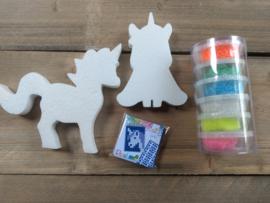 Eenhoorn pakket 2 (pixel -foam clay-styropor)