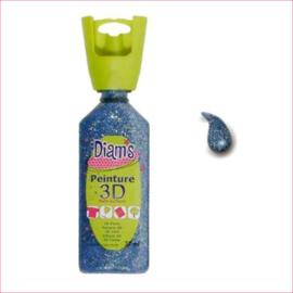 DI40970- 3D verf dekkende glitter hemelsblauw (celeste)