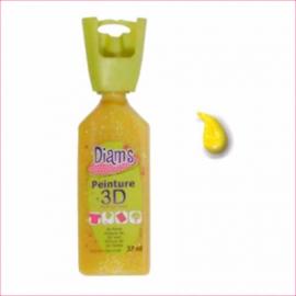 DI40933- 3D verf transparante glitter geel (soleil)