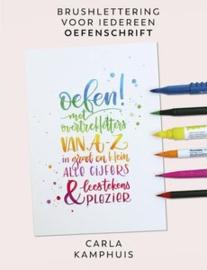 Brushlettering Oefenschrift van Carla Kamphuis