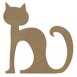 Kat (zittend) MDF 26 cm