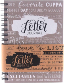"A5 Bulletjournal ""Mijn Letter Journal"" Taupe"