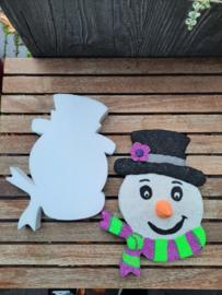 sneeuwpophoofd, styropor, 25 x 20 x 3 cm