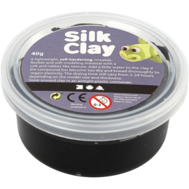 Silk Clay, zwart, 40gr