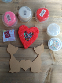 Hart pakket  (pixel -foam clay - gomille)