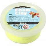 Foam Clay, geel, glitter, 35gr