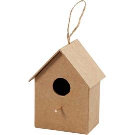 vogelhuis recht (10,5 cm)
