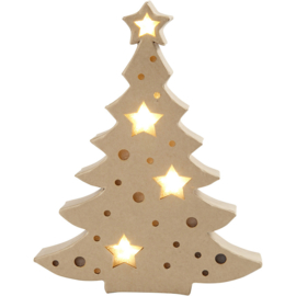 Kerstboom, Figuur Met Licht, H: 27 cm