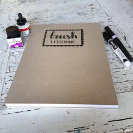 Oefenblok brushlettering A4
