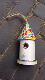 vogelhuisje rond (8 cm)