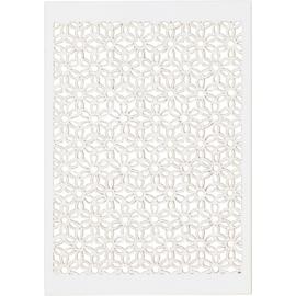 Patroonkarton, wit, vel 10,5x15 cm, 200 gr, kleine bloemen, 10stuks