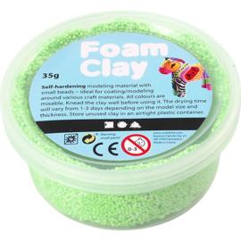 Foam Clay, neon groen, 35gr