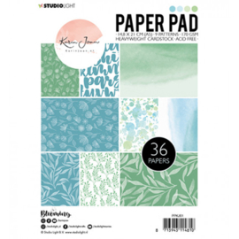 Paper pad A5 36 vel - Karin Joan Blooming collection nr.01