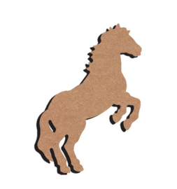 Paard stijgerend 15 cm