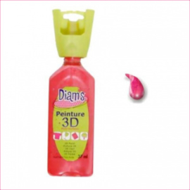 DI40915- 3D verf parelmoer kersen rood (cherise)