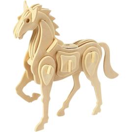 3D Puzzel,paard afm 18x4,5x16 cm