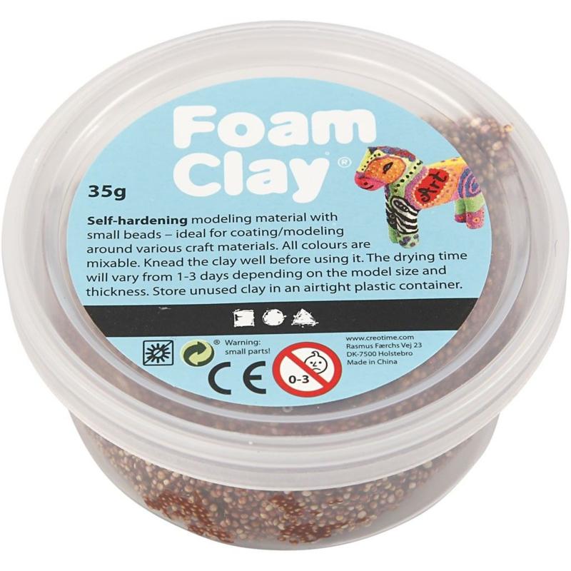 Foam Clay, bruin, 35gr
