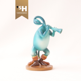 Jheronimus Bosch miniatuur  ''Fluitspeler Blauw''