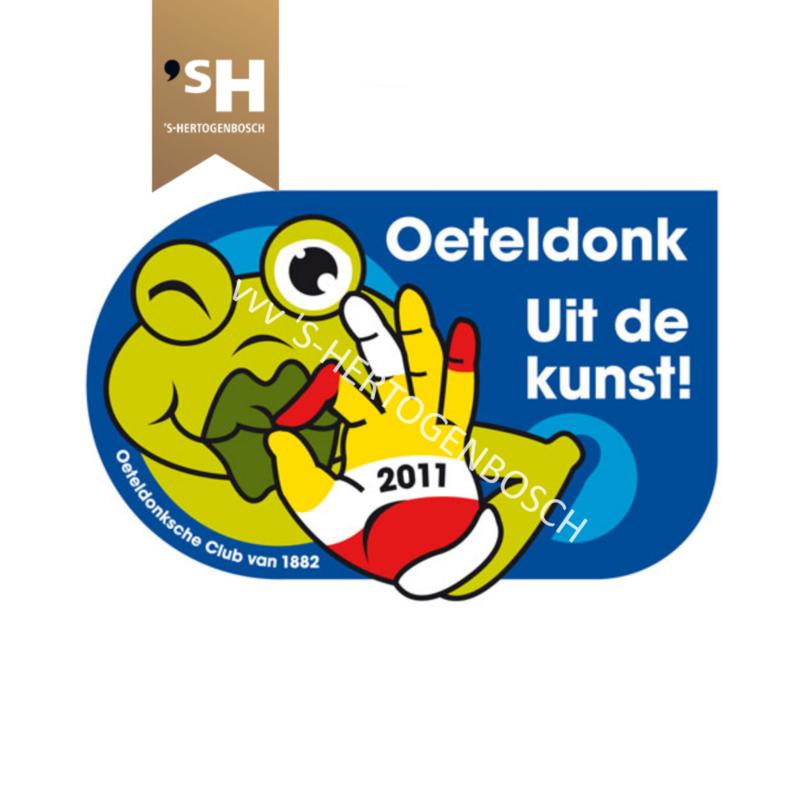 """Embleem 2011 """"Oeteldonk uit de kunst!"""""""