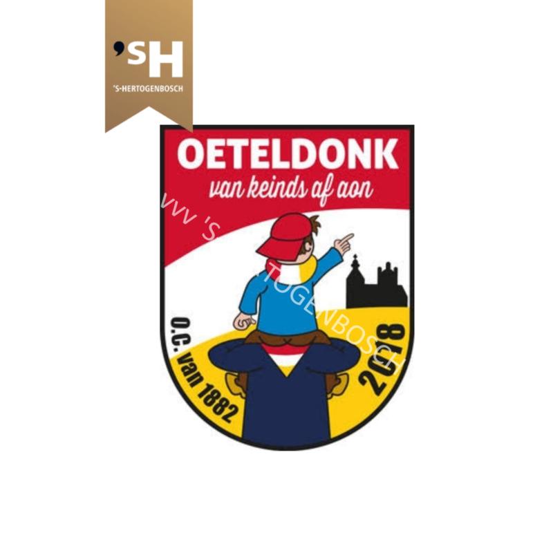 """Embleem 2018 """"Oeteldonk, van keinds af aon"""""""