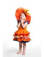 Oranje Jurk met Balletjes 2 jaar