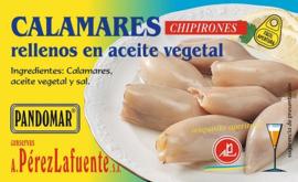 Calamares rellenos en aceite vegetal 120gr