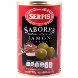 Serpis Aceitunas jamon/ serrano olijven, 300 gr