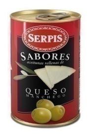 Serpis Aceitunas queso Manchego/ Manchego kaas olijven, 300 gr
