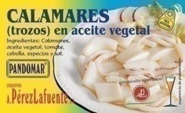 Calamares trozos aceite vegetal 120gr