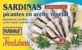 Sardinas picantes en aceite vegetal 125gr
