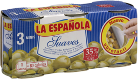 Española aceituna Anchoa/ansjovisvulling 3pack