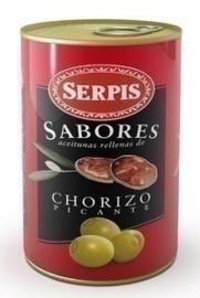 Aceitunas chorizo/ chorizo olijven, Serpis 300 gr