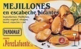 Mejillones en escabeche picante 120gr
