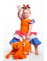 Oranje Jurk met Stippen 5 jaar
