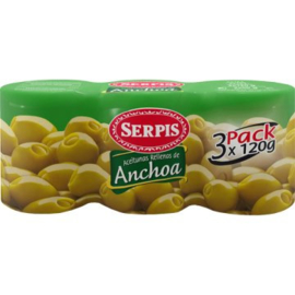 Serpis aceituna Anchoa/ansjovisvulling 3pack