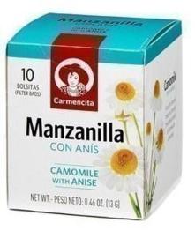 Carmencita Manzanilla con anís