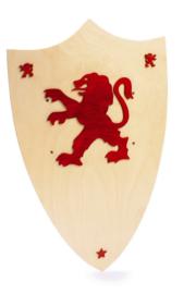 Houten wapenschild Leopold