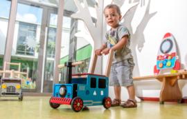 Houten loopwagen & duwwagen trein I'm Toy
